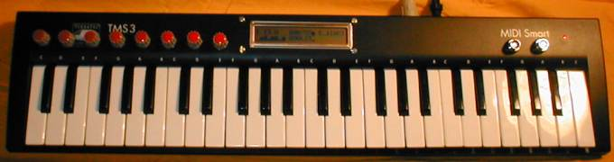 Reduced MIDIbox Hardware built into a MIDI Keyboard from the Fleamarket (total cost for Keyboard & MIDIbox: about 40 EUR)